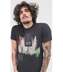 camiseta john john edition preta - preto - masculino - algodã£o - dafiti