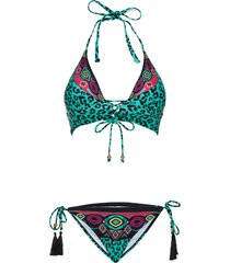 bikini all''americana (set 2 pezzi) (nero) - rainbow