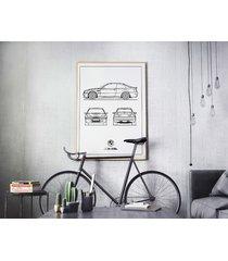 plakat legendy motoryzacji - bmw m3 csl