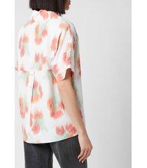 kenzo women's printed hawaiian shirt - poppy - eu 40/uk 10