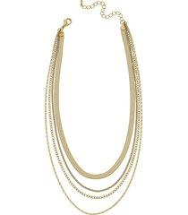 women's canvas jewelry allura multi chain layered necklace