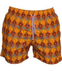 pantaloneta de baño naranja regata beachwear guajira
