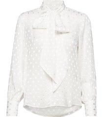 3162 - marley blouse lange mouwen wit sand