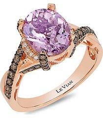 le vian chocolatier® 14k strawberry gold®, cotton candy amethyst®, chocolate diamonds®, vanilla diamonds® ring