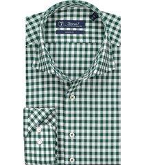 sleeve7 overhemd groen ruit poplin