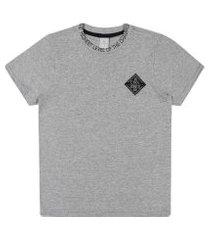 camiseta lecimar tween em meia malha alto veráo cinza médio