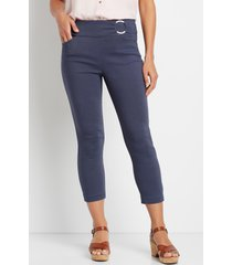 maurices womens blue denim bengaline cropped pants