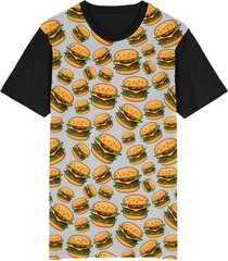 camiseta tshirt migian burgers sublimada cinza