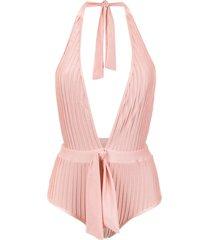 adriana degreas halter neck swimsuit - pink