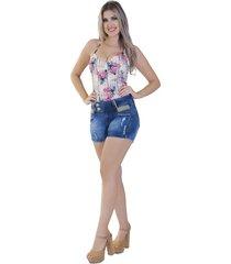 shorts curto zigma joana d'arc azul