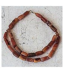 agate beaded necklace, 'reviving beauty' (ghana)