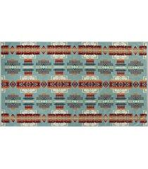pendelton woolen mills oversized jacquard beach towel - chief joseph aqua xb233-51128