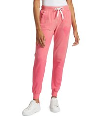 chrldr women's heart stencil sweatpants - hot pink - size xl