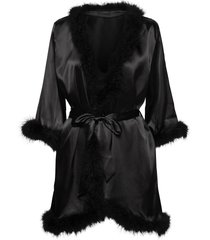candice feather kimono morgonrock svart ow intimates