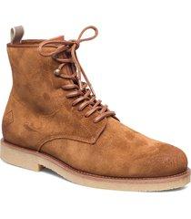 barkley mid lace boot snörade stövlar brun gant
