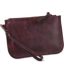 bolsa de mão mantoan  couro alça removível conforto café - kanui