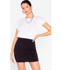womens you gotta leg go high-waisted mini skirt - black