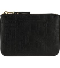 comme des garcons wallet embossed x-small zip pouch