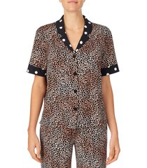 women's room service pajama top, size x-large - brown (nordstrom exclusive)