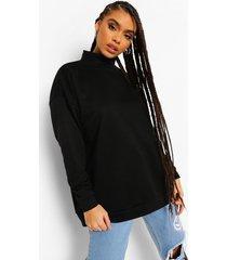 sweater met hoge hals, black