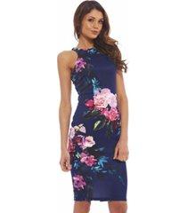 ax paris cut in detail floral printed dress