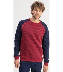 doorgestikte golfsweater voor heren/heide, maat s | puma