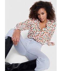 alix the label 2103942828 ladies woven fresh flower blouse