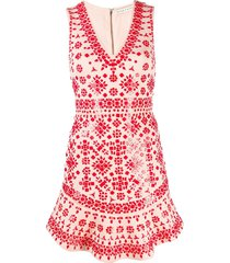 alice+olivia beaded playsuit - pink