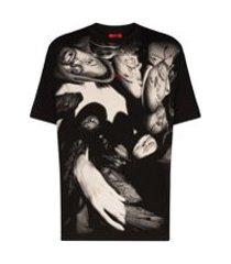 424 camiseta com estampa wu-tang - preto