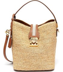 'murphy' raffia shoulder bag