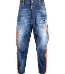 5-pocket jeans met zijbanden