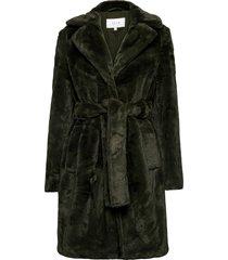 viboda new faux fur coat/pb/su outerwear faux fur grön vila
