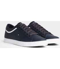 tenis essential leather azul tommy hilfiger
