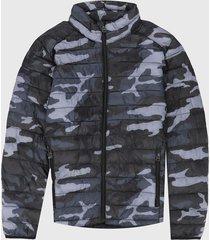 chaqueta gris-azul-negro levis