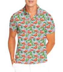 nick graham men's modern fit stretch printed polo