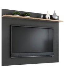 painel p/ tv até 50 pol quiditá móveis benevello 135cm 1 prateleira