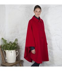 wool and cashmere evening cape red