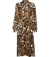 lorigz dress so20 knälång klänning brun gestuz