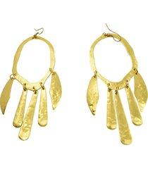 aretes de mujer ovale irregolare semibattuti brass colection by vestopazzo