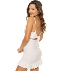 vestido natural nylon