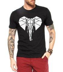 camiseta criativa urbana elefante tribal