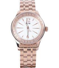 reloj classic rosado metalizado mh time
