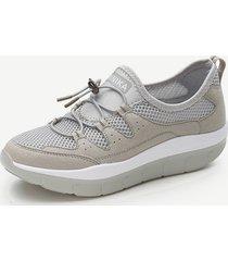 sneakers in mesh con lacci