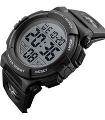reloj deportivo digital impermeable skmei 1258 negro