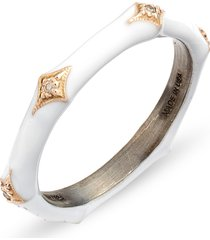 women's armenta new world 14k gold & enamel band ring