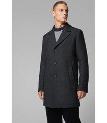 abrigo casual slim fit mezcla de lana boss