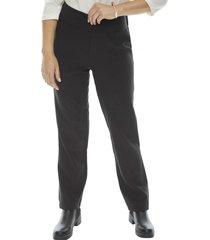 pantalon cintura elasticada negro  corona