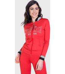 chaqueta everlast free spirit rojo - calce ajustado