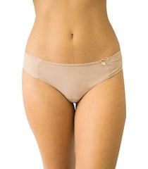 calcinha fio duplo soberano qtal lingerie básico bege