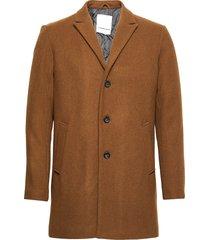 wool coat wollen jas lange jas bruin lindbergh